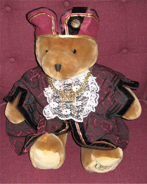 The Mayors Bear in a Robe and Chains