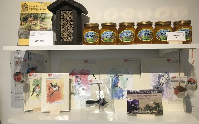 Honey for sale at the Tourist Information Centre