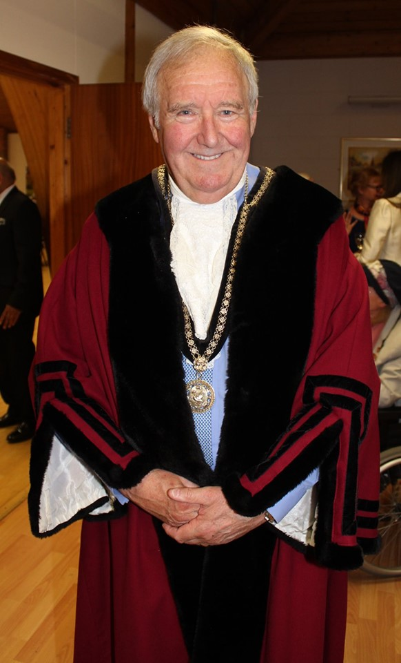 Councillor Mark Cole in his Mayoral Robes