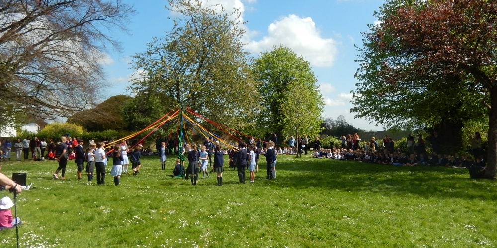 May pole dancing on the green