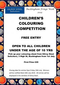 Children's colouring competition poster