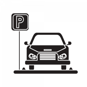 Animated Car in Parking Space