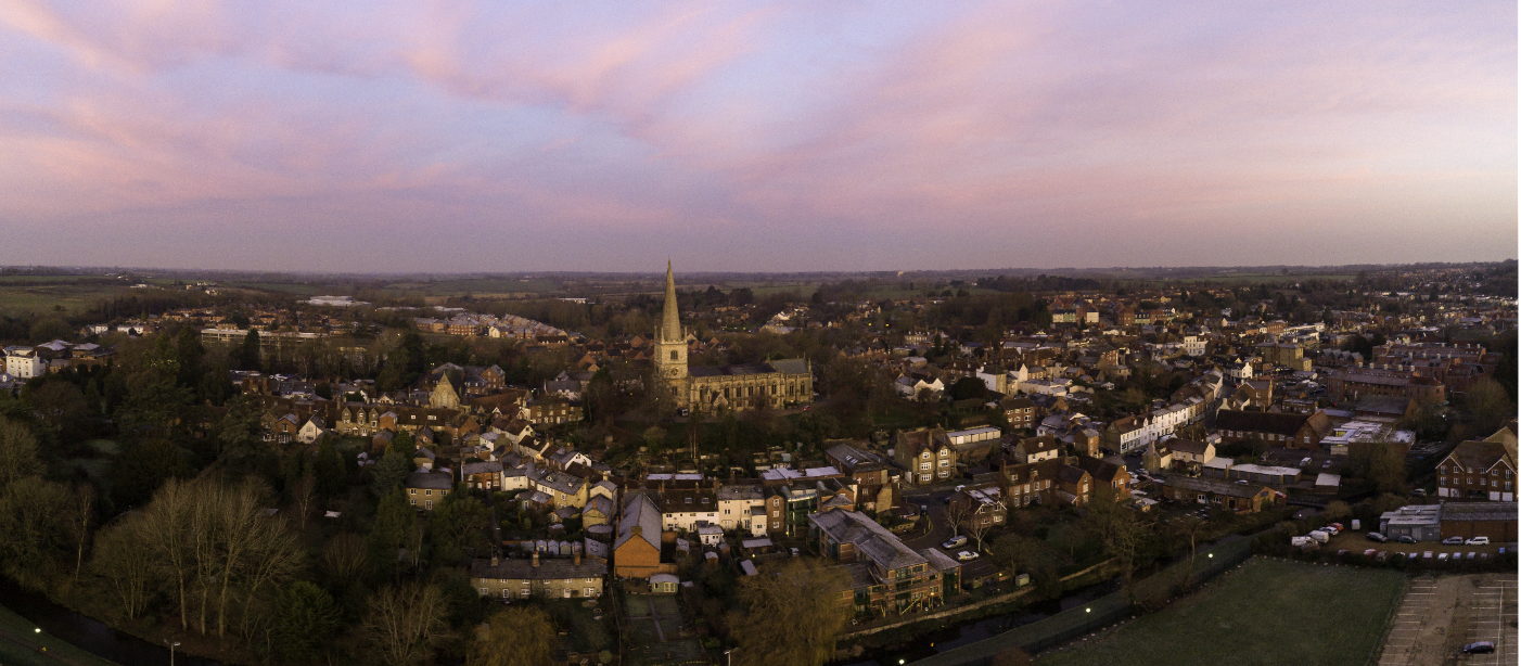 panoramic view of Buckingham