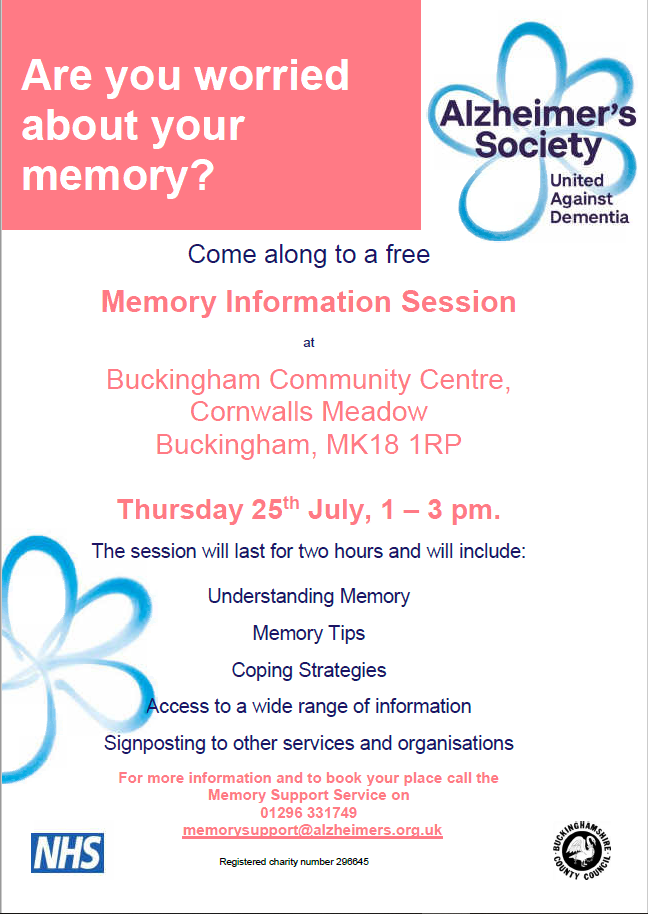 Poster for dementia awareness day