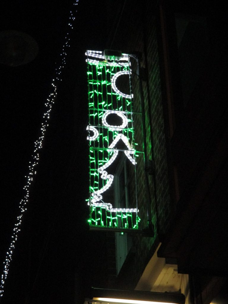 Christmas Lights on shop front