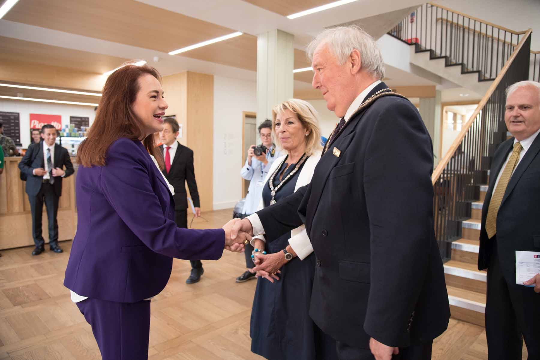 Mayor of Buckingham meets the President of the General Assembly at the UN UN president