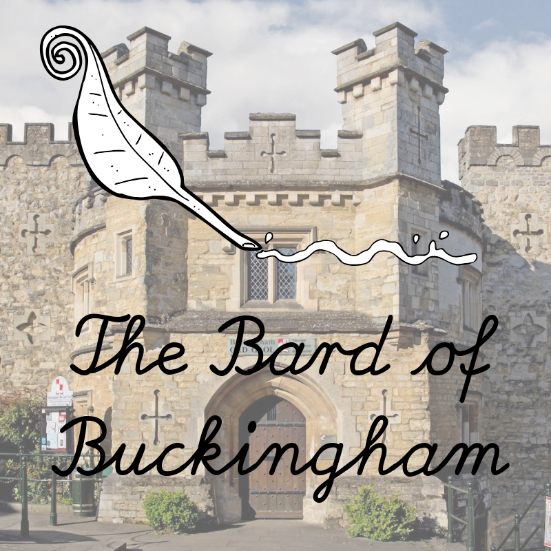 Bard of Buckingham logo, quill over the old Gaol