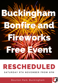 Bonfire and Fireworks poster 9th November 2019