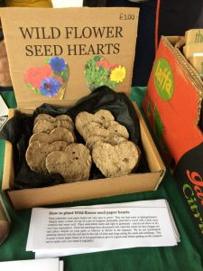 Wild heart flower seed bombs at the spring fair