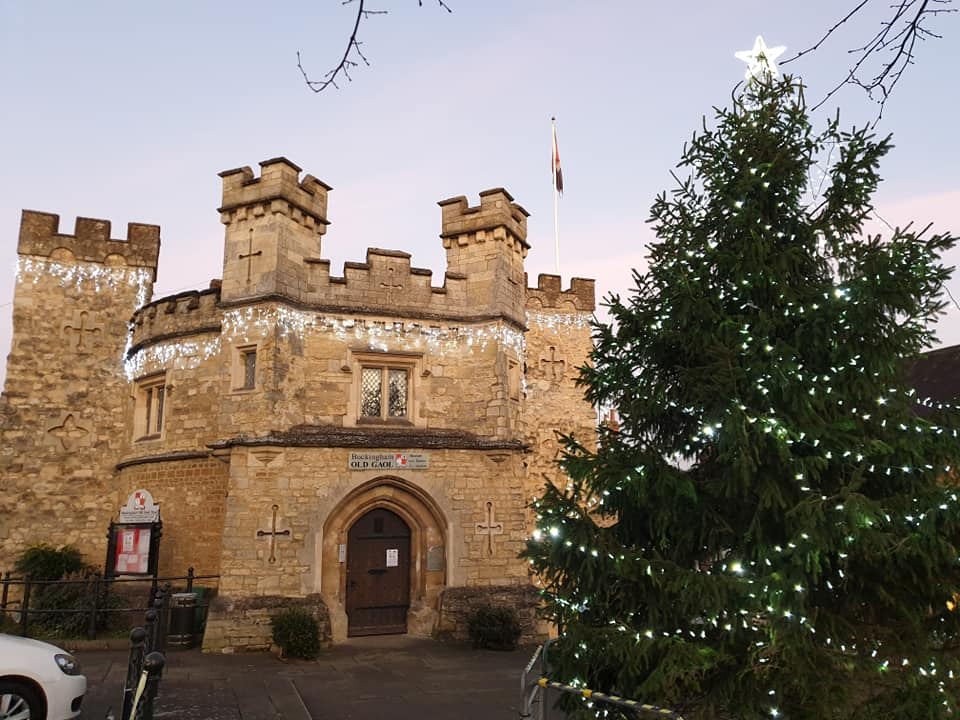 Old Gaol and the town centre Christmas Tree 2019
