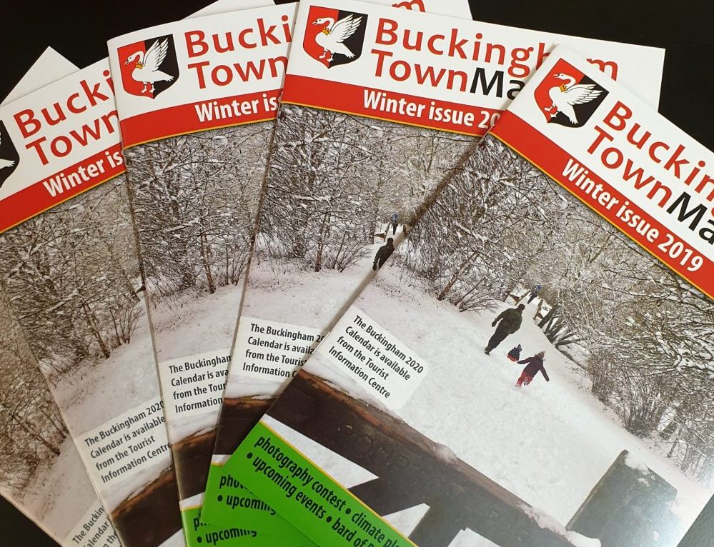 Pictures of the Buckingham Town Matters Winter 2019 newsletter