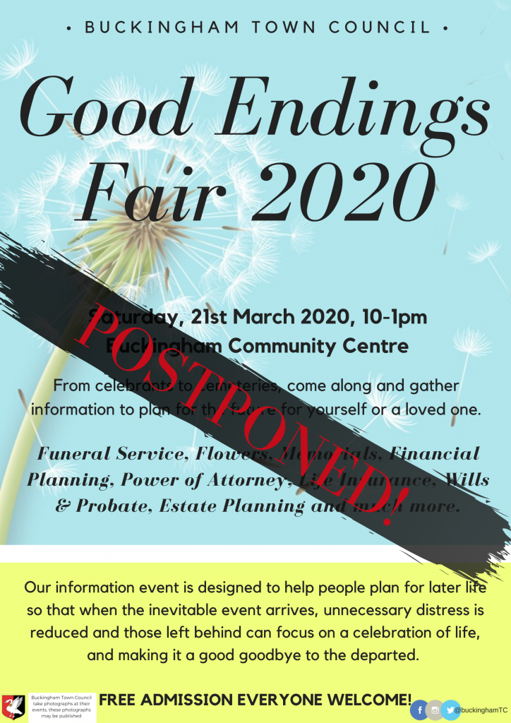 Good Endings Fair postponed poster