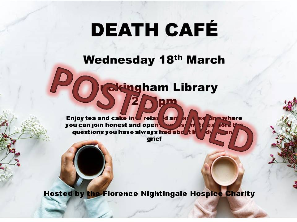 Death Cafe postponed poster