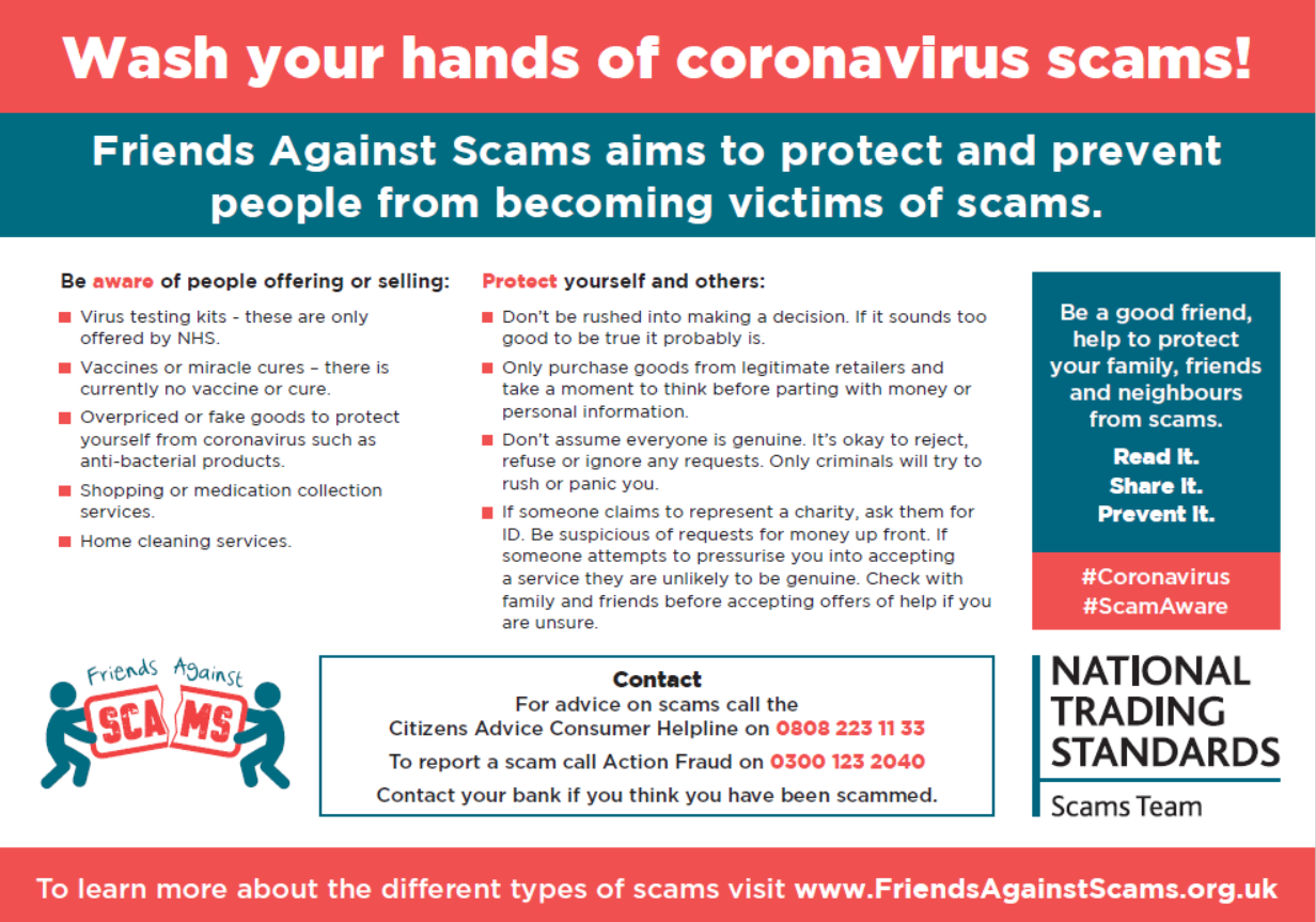 Coronavirus Scams warning