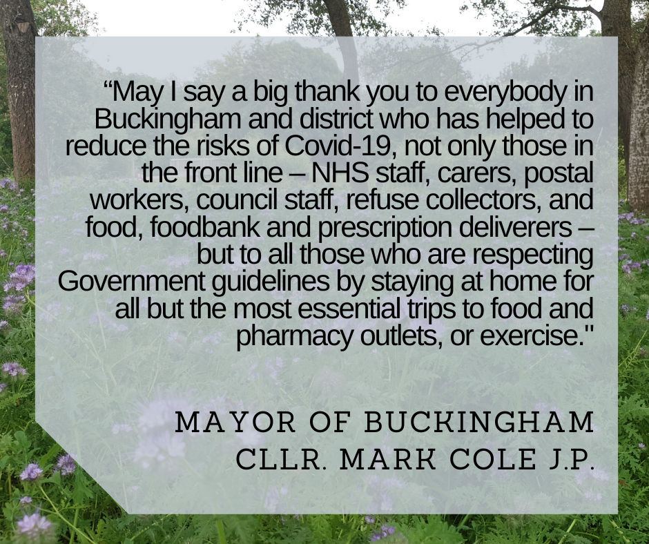 thank you from buckingham mayor coronavirus