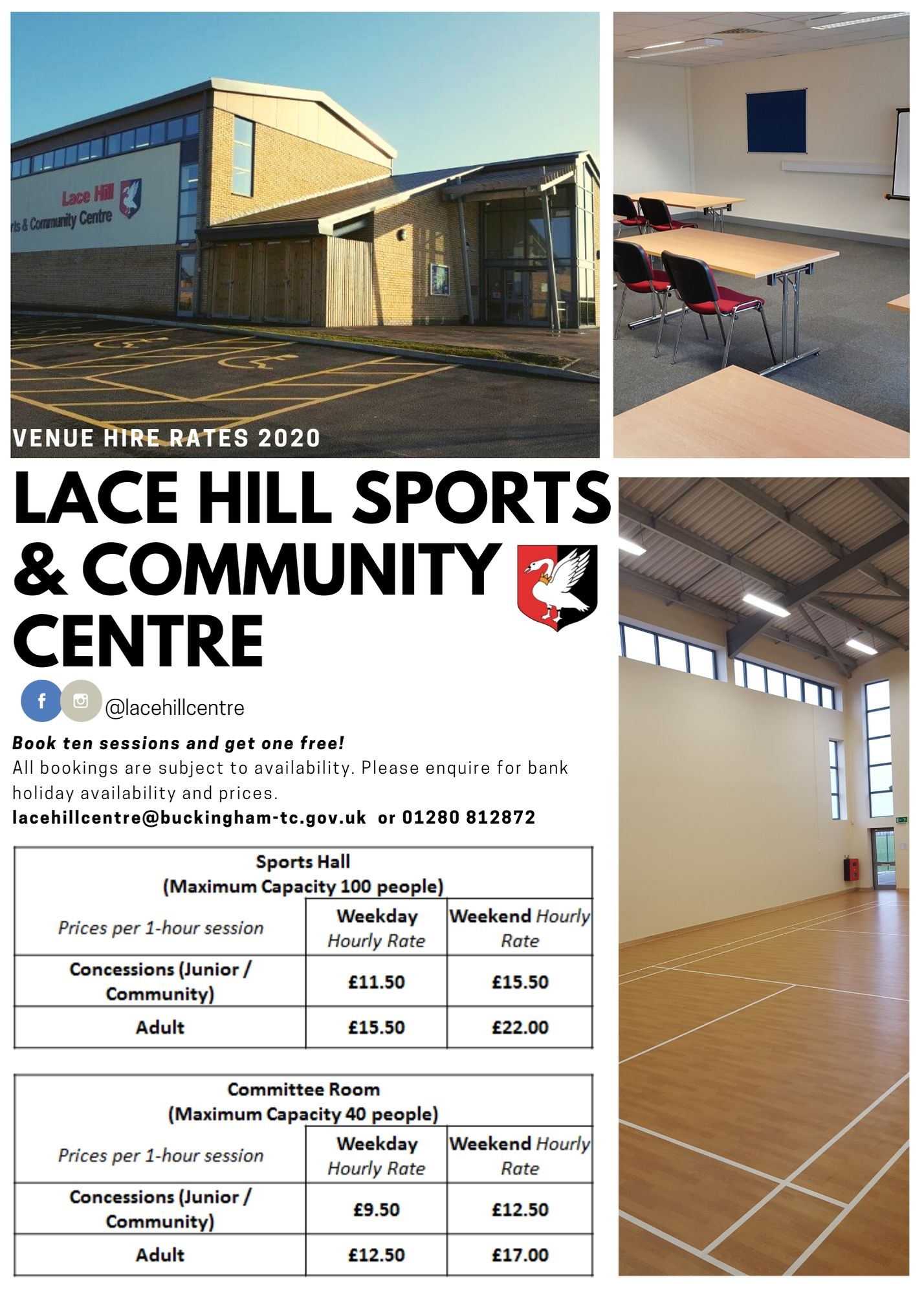 Lace Hill Sports & Community Centre Hire Costs