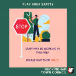 Stop: outdoor staff may be working in the parks, please do not approach them
