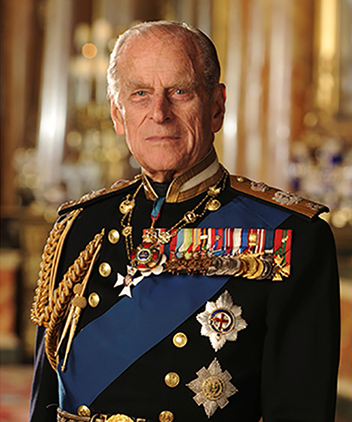 HRH Prince Philip in uniform.
