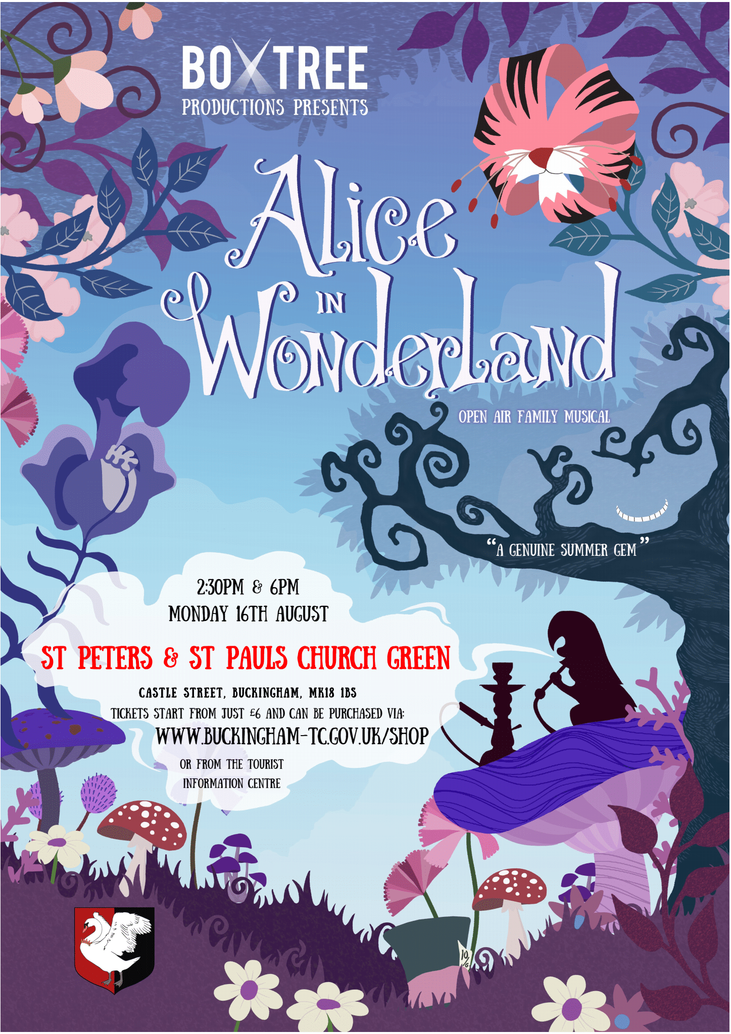 Alice in wonderland on the church green poster