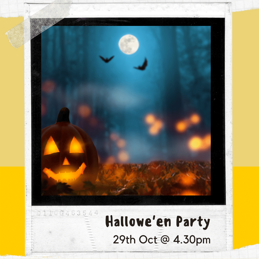 Click here to find out more about the hallowe'en party